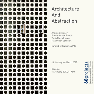 <p>14/01/17 – 04/03/17 </p> <p>DAS ECK in group show ARCHITECTURE AND ABSTRACTION at 68projects Berlin </p>